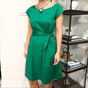 Banana Republic Emerald Tie Waist Dress